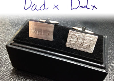 Cufflinks – Dad (handwritten)