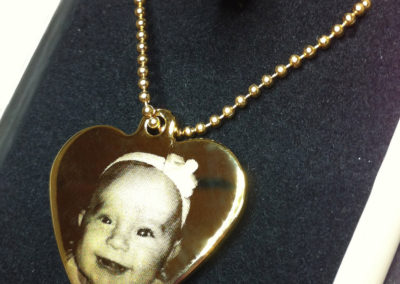 Gold Heart Pendant – baby photo
