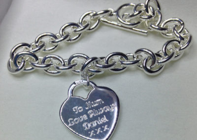 Silver Heart Pendant – message
