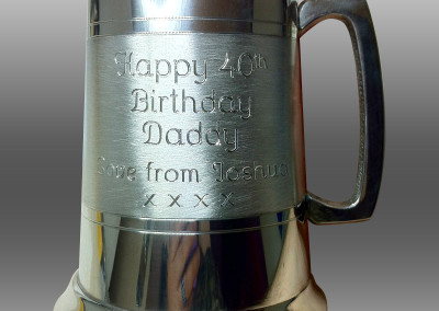 Satin Band Tankard – Birthday message