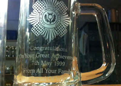 Scots Guard Glass Tankard