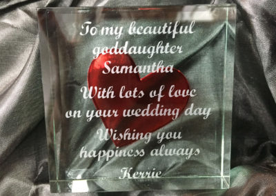 Spaceform Glass Loveheart Token – Wedding Gift
