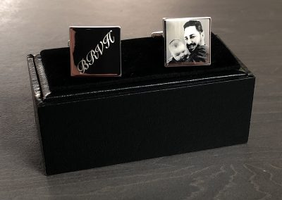 Cufflinks – photo & initials