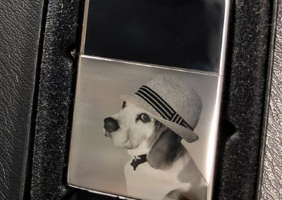 Dog with Hat Zippo