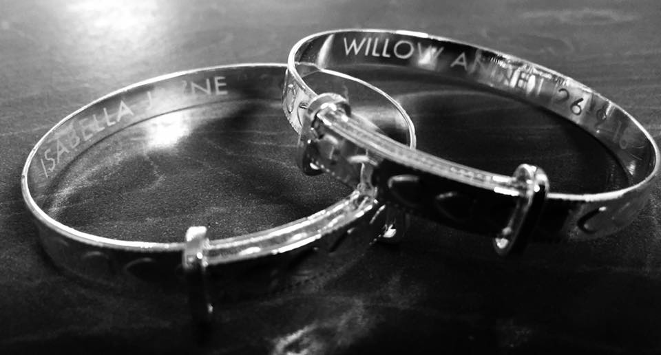 Pair of silver child bangles