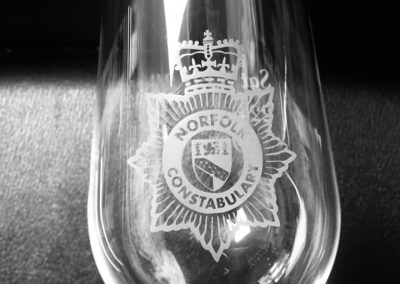Wine glass – Norfolk Constabulary logo